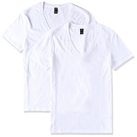 (ジースター ロゥ)G-Star Raw Base Htr V-t s/s Tシャツ2pack 8761-2757-2020 2020 白 XL