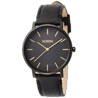 [ニクソン]NIXON 腕時計 PORTER LEATHER: ALL BLACK/GOLD NA10581031-00 【正規輸入品】