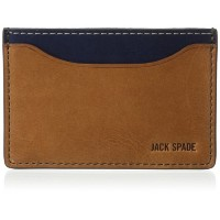 [ジャック・スペード] JACK SPADE カードケース MITCHELL LEATHER CREDIT CARD HOLDER W6RU0013 912 (SADDLE/NAVY)