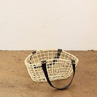 COCO WIRE HANDLE BASKET NO.05 IVORY