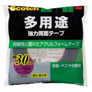3M スコッチ 強力両面テープ 30mm×10m PSD-30