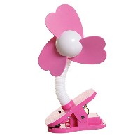 dreambaby ドリームベビー Clip-on Fan Silver with Black Foam ベビーカー扇風機 クリップオン ファン White/Pink ホワイト/ピンク