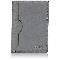 [ジャック・スペード] JACK SPADE 折り財布 GRANT LEATHER VERTICAL FLAP WALLET W6RU0165 072 (CHARCOAL)