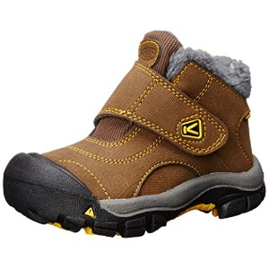 [キーン] KEEN kids Kootenay WP kids Kootenay WP 1013543 (Dark Earth/Spectra Yellow/16)