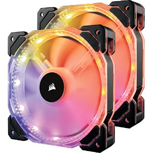 Corsair HD140 RGB Dualファン -With Controller- PCケースファン FN1086 CO-9050069-WW