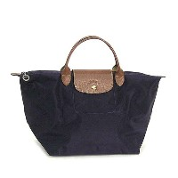 LONGCHAMP 1623-089-645LE PLIAGEロンシャン ル・プリアージュ折りたたみトートバッグナイロン×型押レザー MYRTILLE