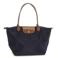 LONGCHAMP 1899-089-645LE PLIAGEロンシャン ル・プリアージュ折りたたみトートバッグナイロン×型押レザー MYRTILLE