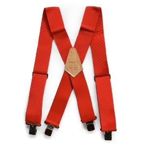 HERITAGE LEATHER(ヘリテージレザー) HEAVY DUTY SUSPENDER RED Red 110