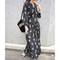 THE IRON FLORAL-PRINT MAXI ワンピース◆【イエナ/IENA ワンピース】