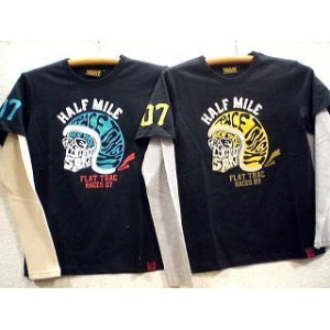 LOW BLOW KNUCKLE 長袖Tシャツ HALF MILE【コンビニ受取対応商品】