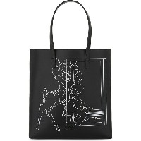 ジバンシー givenchy レディース バッグ トートバッグ【stargate bambi leather shopper bag】Black white