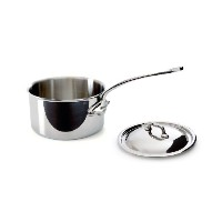 【Mauviel Made In France M'Cook 5 Ply Stainless Steel 5210.19 2.7 Quart Saucepan with Lid Cast...