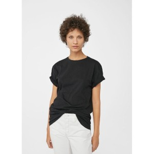 Tシャツ Organic cotton t-shirt (ブラック) MANGO