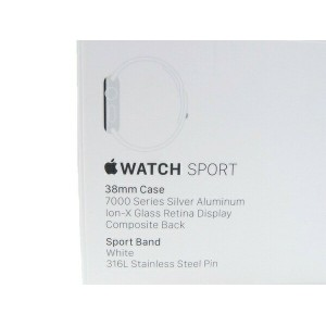 未使用 【中古】 Apple MJ2T2J/A Apple watch sport 7000series Silver 38mm ウェアラブル機器 スマートウォッチ S2486387