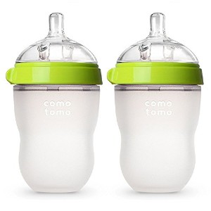 Comotomo Baby Bottle, Green, 8 Ounce, 2-Count by Comotomo 哺乳瓶 2本セット 250ml [並行輸入品]