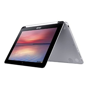 ASUS Chromebook Flip 10.1-Inch Convertible 2 in 1 Touchscreen (Rockchip, 4 GB, 16GB SSD, Silver) ...