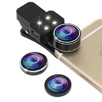 GTIMES JP 4in1 スマホ カメラレンズ キット 4点セット(198°魚眼、15Xマクロ、0.4 X広角、フィルライト)iphone7/7 plus,iPhone 6/6S/5s,...