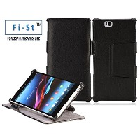 Fi-St 純正卓上ホルダー対応型 液晶保護フィルム付 Xperia Z Ultra SOL24(6.4インチ)用クレードル対応 スタイリッシュケース