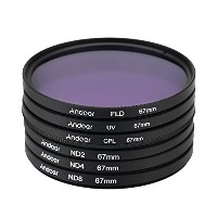 Andoer 67mm UV + CPL + FLD + ND(ND2 ND4 ND8)フィルターキットセット 紫外線・円偏光・蛍光・減光フィルター Nikon Canon Sony...