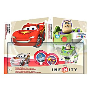 Disney Infinity TRU Exclusive Race to Space Pack with Crystal Lightning McQueen, Buzz Lightyear...
