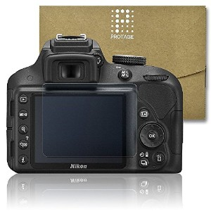 PROTAGE Nikon D3300 / D3200 用 ガラスフィルム ガラス 製 フィルム 液晶保護フィルム 保護フィルム 液晶プロテクター ニコン D3300 / D3200