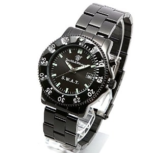 [Smith & Wesson]スミス&ウェッソン ミリタリー腕時計 SWAT WATCH BLACK SWW-45M [正規品]
