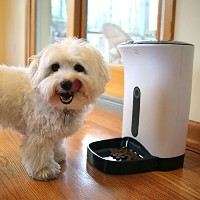 Gempet Pet feeder,ペット用 自動給餌器 定時給餌 録音可 犬ちゃん 猫ちゃんに