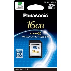 Panasonic 16GB SDHCメモリーカード CLASS4 RP-SDL16GJ1K
