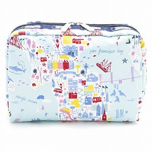 LeSportsac レスポートサック ポーチ 7121 EXTRA LARGE RECTANGULAR COSMETIC D840 Seaside Travel [並行輸入商品]