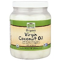海外直送品Virgin Coconut Oil Organic, 54 Fl Oz by Now Foods