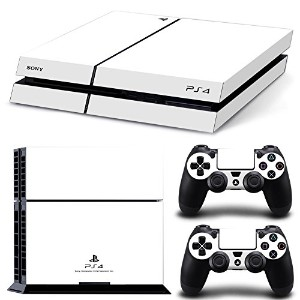 FriendlyTomato PS4専用 Skin プレイステーション4用スキンシール - White Color - PlayStation 4 Vinyl Colour