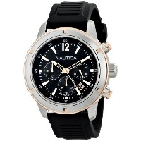 ノーティカ Nautica Men's N17654G Analog Display Quartz Black Watch [並行輸入品]