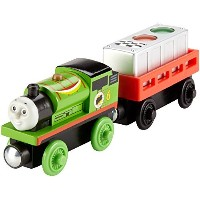 Fisher Price DFW80 Thomas & Friends Wooden Railway Ready, Set, Race Percy Train [並行輸入品]