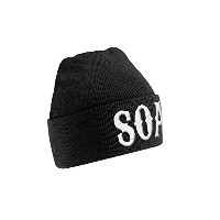 Sons Of Anarchy ビーニーハット Cap Beanie SOA Logo 公式 新しい ブラック