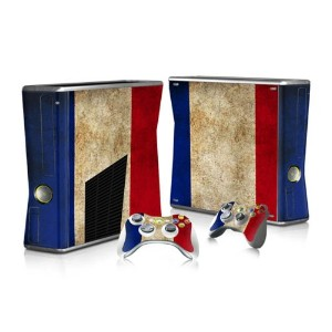 XBOX 360 Slim Skin Design Foils Faceplate Set - France Design