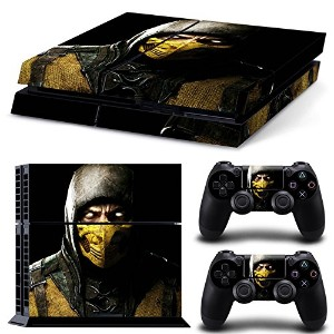 FriendlyTomato PS4専用 Skin プレイステーション4用スキンシール - Kombat Duel - PlayStation 4 Vinyl Mortal Fight
