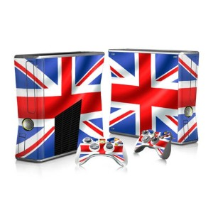 XBOX 360 Slim Skin Design Foils Faceplate Set - Union Jack 2 Design