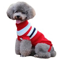 Ariely Chevaliers ペット服 小型犬 ニットパーカー 全サイズ ニット犬服 赤 3XL