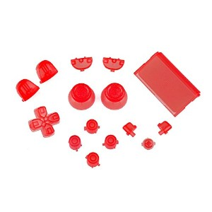 Sony PS4 Playstation 4 Full Button Set - Crystal Red