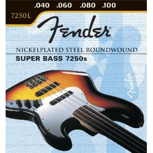 フェンダー ベース弦 Fender Nickelplated Steel Roundwound, Long Scale, 7250L 40-100, Bass Strings