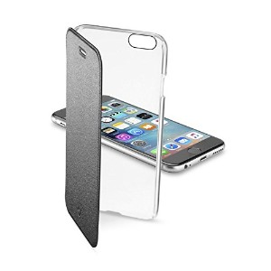 Cellularline iPhone6s ケース 手帳型 ブラック 黒 CLEAR BOOK for iPhone6/6s(4.7) 【各種カード収納可】