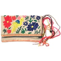 STAR MELA スターメラ Flora Emb Purse bag ecru