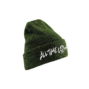 All Time Low ビーニーハット Cap Scratch Logo 公式 メンズ 新しい グリーン
