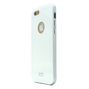 iPhone 6s ケース Tryit Slim Fit Case Metalic Series (White×Silver) for iPhone6s アイフォン6s