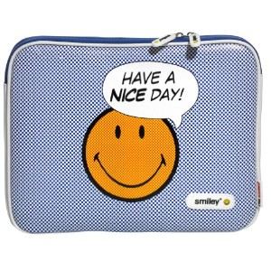 Case Scenario SMILEY PU Leather Sleeve with Zip for MacBook Pro 15 Nice Day