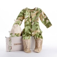 Big Dreamzzz Baby Camo 2-Piece Layette Set in Backpack Gift Box, Tan, 0-6 Months by Baby Aspen ...