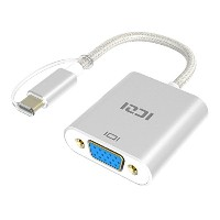 USB C to VGA, ICZI USB 3.1 Type C to VGA変換アダプタUSB-C & Thunderbolt 3ポート 1080P MacBook and Google...