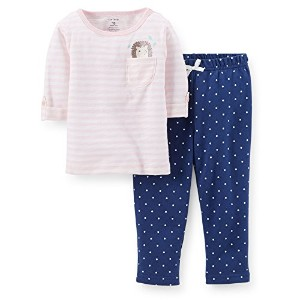 Carter's (カーターズ)七分袖 トップ&フレンチテリーパンツ セット:2-Piece 3/4 Sleeve Top & French Terry Pants Set 18M ( 78...