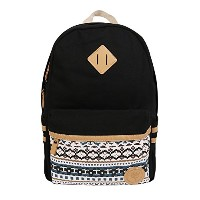 S&D リュックサック 18L おしゃれ バッグ バックパック outdoor backpack women daypack 学生 女子 社員 通学 通勤 ブラック