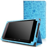 MoKo Slim Folding Cover Case for Google Nexus 7 2013 Tablet, Cutie Charm Blue - 並行輸入品
